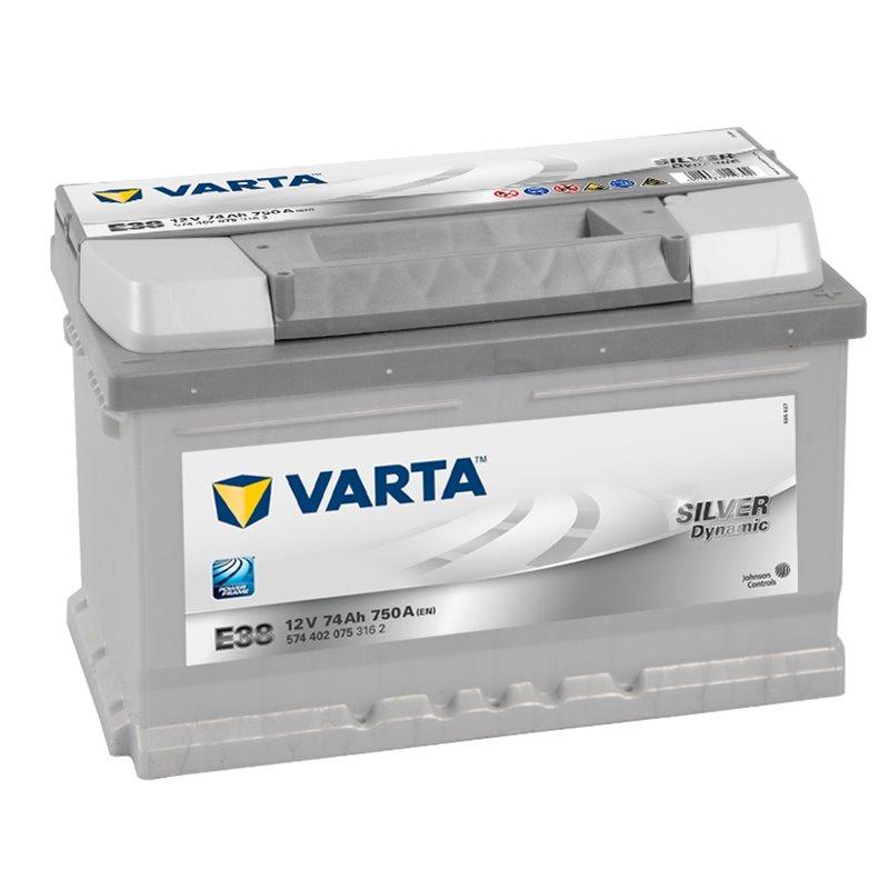 74 Ah Startbatteri Varta Silver Dynamic